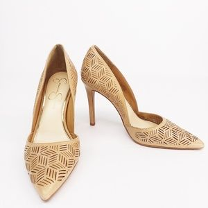 Jessica Simpson Perforated Classic Leather Pumps
